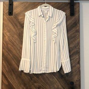 Club Monaco Striped Blouse Size XS